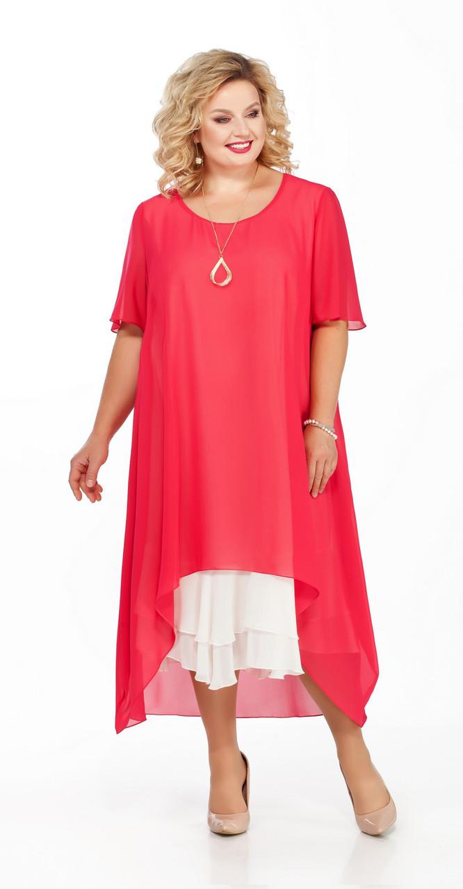 Платье Pretty-905, коралл, 56