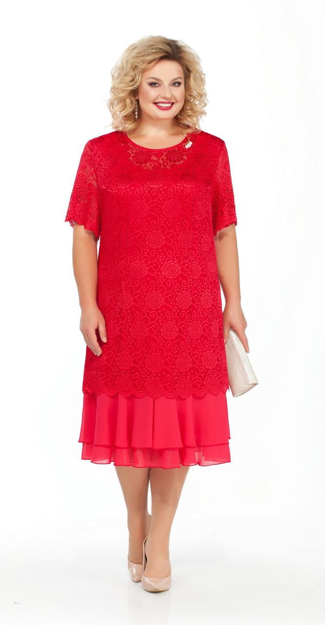 Платье Pretty-906, красный, 56