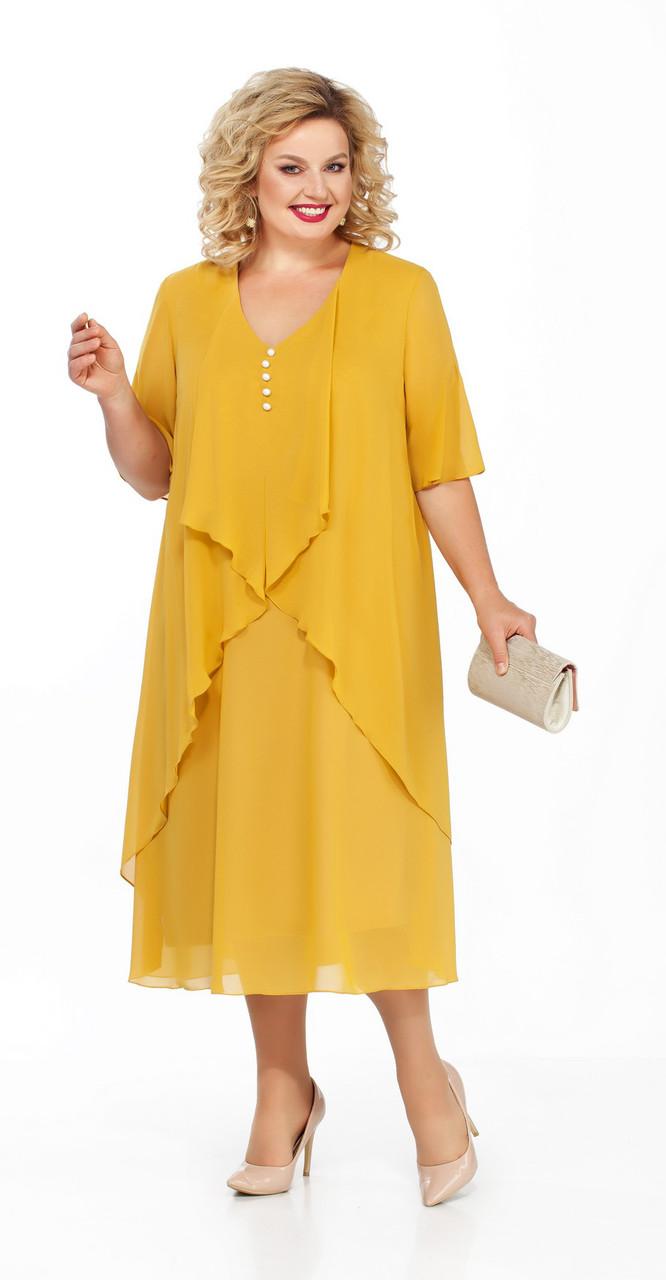 Платье Pretty-915/1, желтый, 56