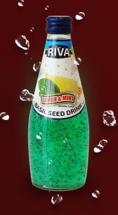 Напиток Семена базилика с ароматом  Мятного Лимона 290 мл