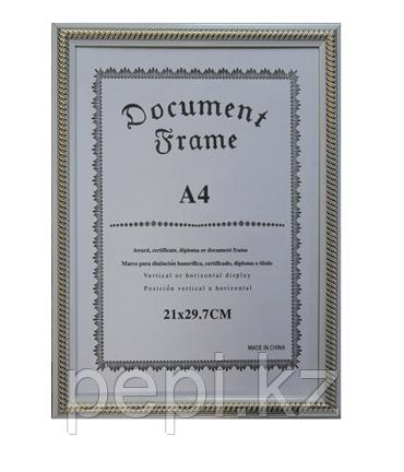 Рамка для сертификата А4, белая пружинка