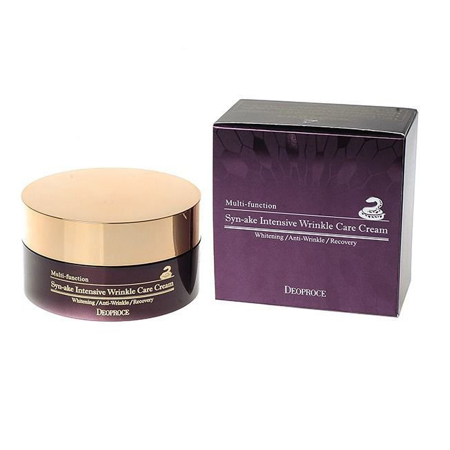 Крем для лица со змеиным ядом Deoproce Sun-Ake intensive Wrinke Care Cream 100ml.