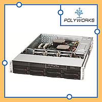 Сервер Supermicro CSE 825TQ-R720/X10DRi/2xIntel E5 2609v4/32GB ECC DDR4/Raid 9260/6*300GB SAS2/2*720W PS