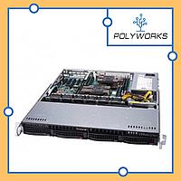Сервер Supermicro CSE 813MFTQC-505CB/X11DPl-i\2xXeon Silver 4110\64GB DDR4 ECC\MR9361-8i\4x300GB SAS 10K\500W