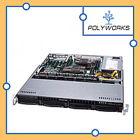 Сервер Supermicro CSE-813MFTQC-505/X11SSl-F/Intel Xeon Processor E3-1230v6/16GB DDR4ECC Unb/2*1TB SATA/500W P