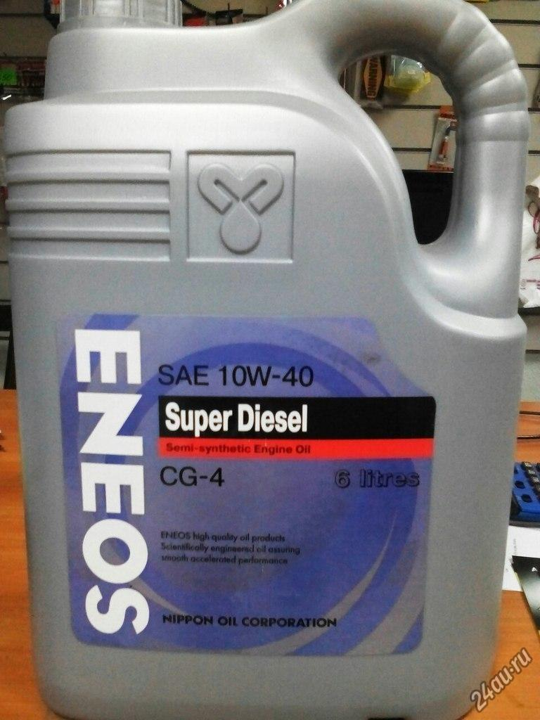 Моторное масло ENEOS SUPER DIESEL SEMI-SYNTHETIС 10W-40 6L
