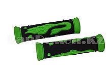 Грипсы резиновые для самоката и велосипеда черно-зеленые