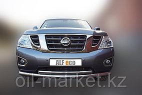 Защита переднего бампера, двойная для Nissan Patrol ( 2014-), фото 2