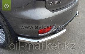 Защита заднего бампера, уголки одинарные для Nissan Patrol ( 2014-), фото 2