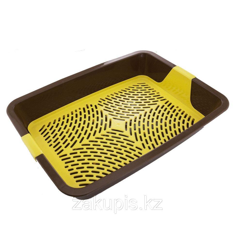 Лоток для кошачьего туалета с сеткой