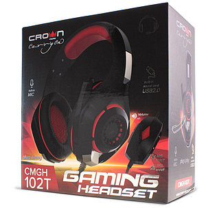 Наушники игровые CMGH-102T USB RED, фото 2
