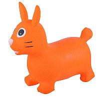 SPRING Прыгуны-животные, ЗАЙКА, PVC, с насосом, 62*30*50см, Оранжевый