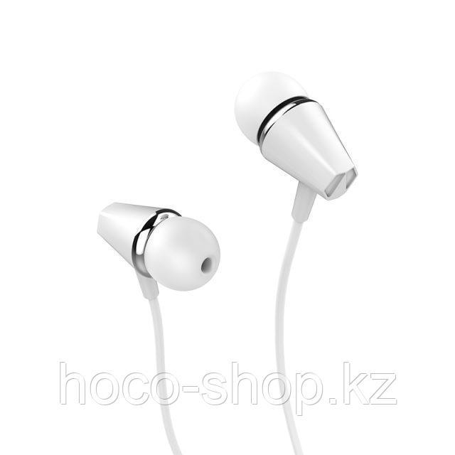 Проводные универсальные наушники M34 Hoco с микрофоном , White