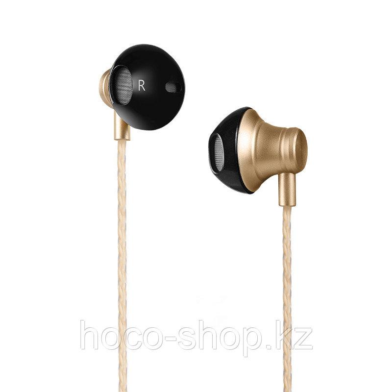 Наушники hoco M18 Gesi Metallic Universal Earphone with mic Gold