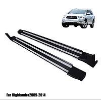 Подножки на Toyota Highlander 2009-13 DZY style