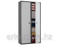 Бухгалтерский шкаф Практик SL- 185/2, 2 отсека с ключевыми замками, 8 полок