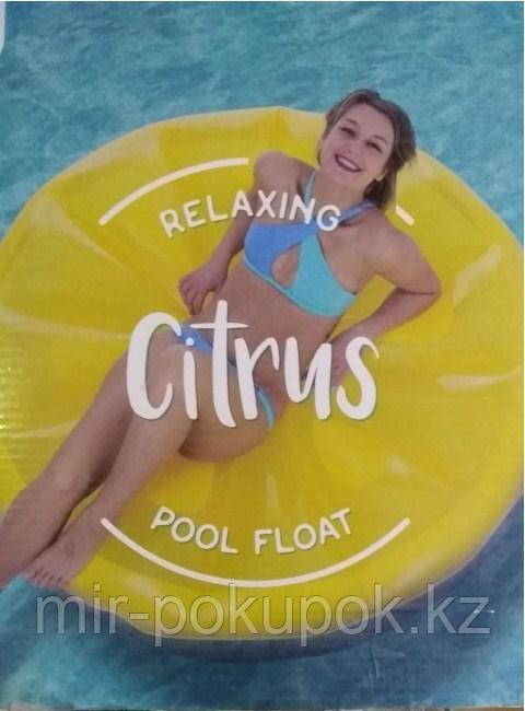 Плодик для плаванья надувной большой в форме Лимона Citrus (пляжный матрас для плавания Цитрус)