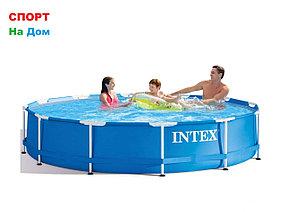 Круглый каркасный бассейн Intex 28210 (366 х 76 см, на  6503 литра )