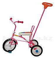 """Трехколесный детский велосипед """"Балдырган"""" с родительской ручкой, розовый"""