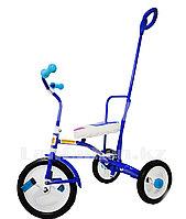 """Трехколесный детский велосипед """"Балдырган"""" с родительской ручкой, синий"""