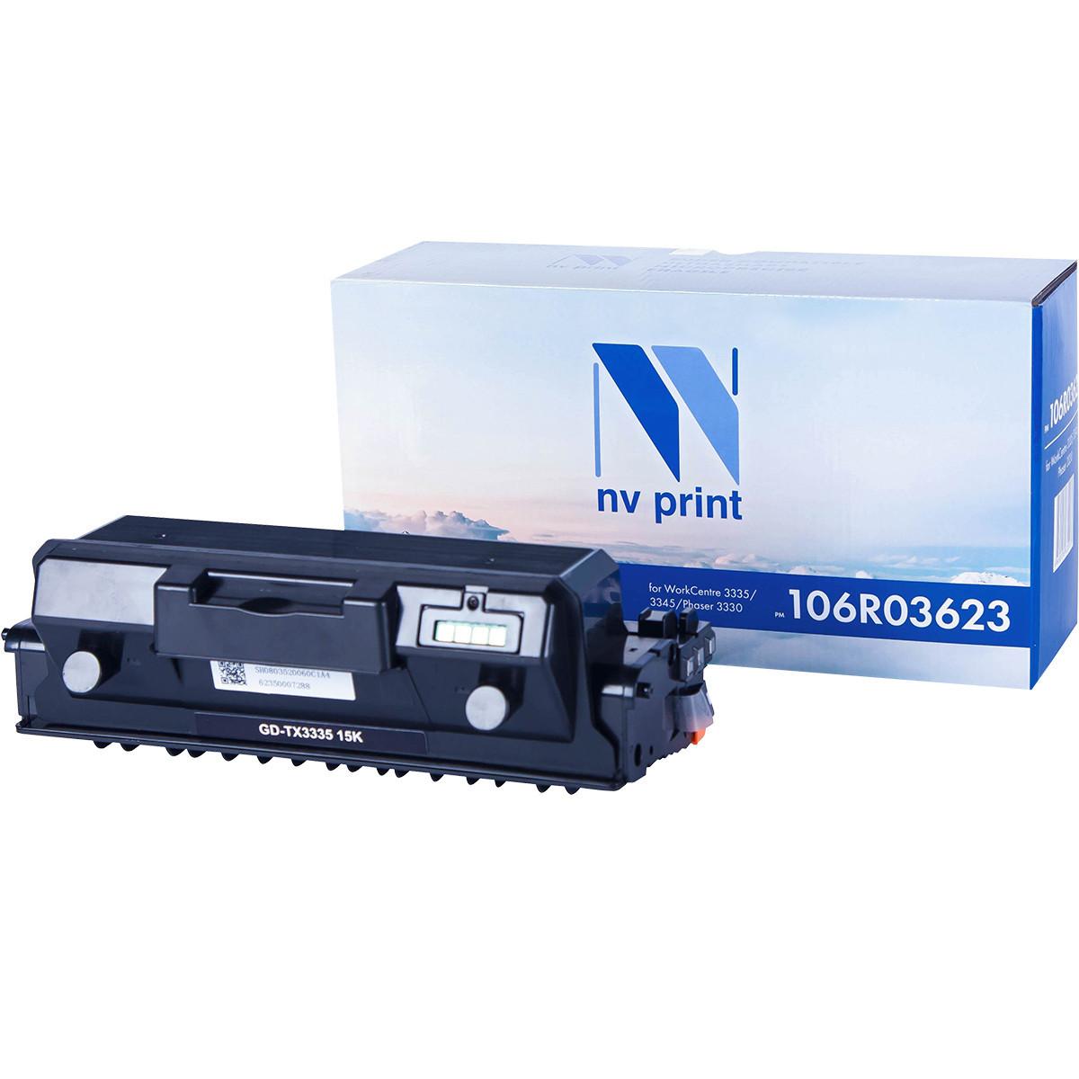 Тонер-картридж NVP совместимый Xerox 106R03623 для WorkCentre 3335/3345/Phaser 3330 (15000k)