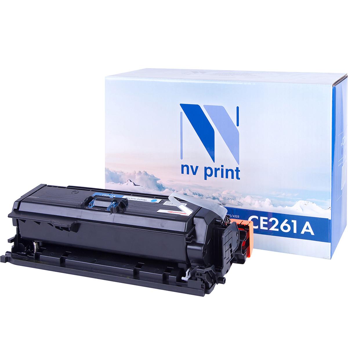 Картридж NVP совместимый HP CE261A Cyan для LaserJet Color CP4025dn/CP4025n/CP4525dn/CP4525n/CP4525x