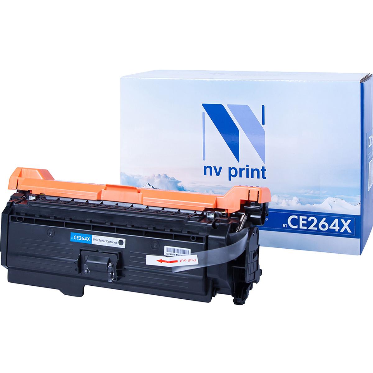 Картридж NVP совместимый HP CE264X Black для LaserJet Color CM4540/CM4540f/CM4540fskm (17000k)