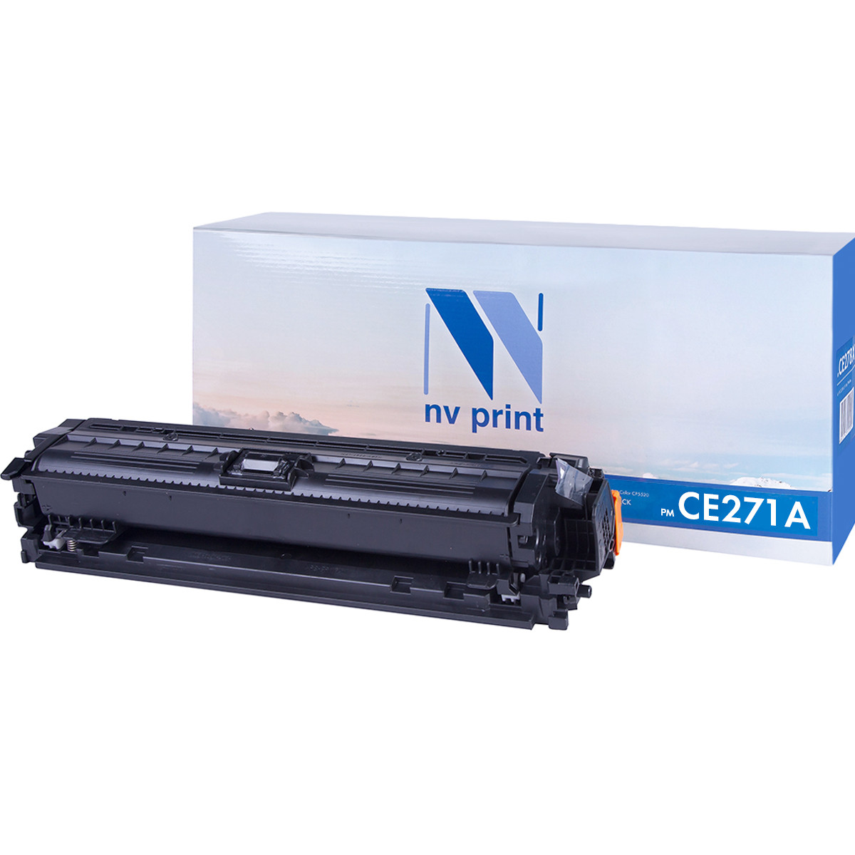 Картридж NVP совместимый HP CE271A Cyan для LaserJet Color CP5525dn/CP5525n/CP5525xh/M750dn/M750n/M7