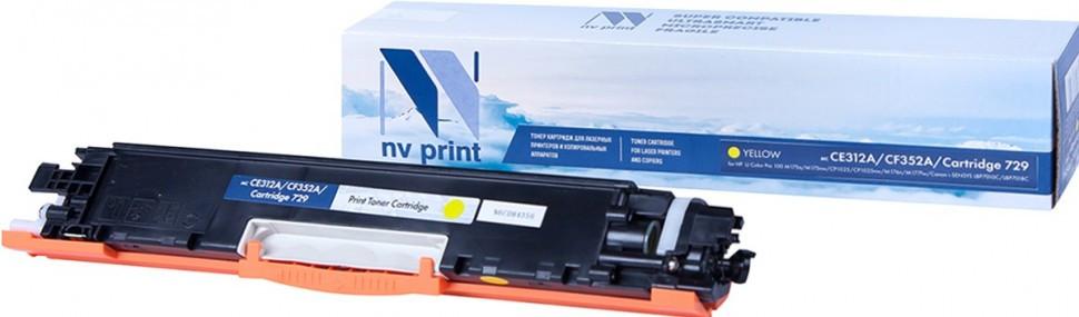 Картридж NVP совместимый HP CE312A/Canon 729 Yellow для LaserJet Color Pro 100 M175a/M175nw/CP1025/C