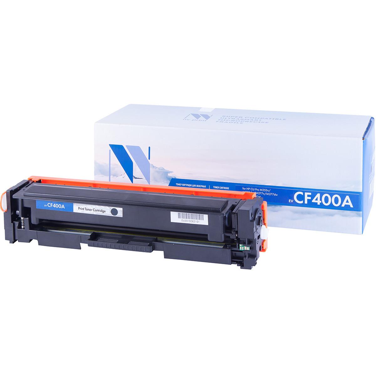 Картридж NVP совместимый HP CF400A Black для LaserJet Color Pro M252dw/MFP-M277dw (1500k)