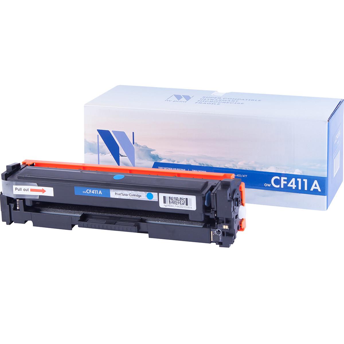 Картридж NVP совместимый HP CF411A Cyan для LaserJet Color Pro M377dw/M452nw/M452dn/M477fdn/M477fdw/