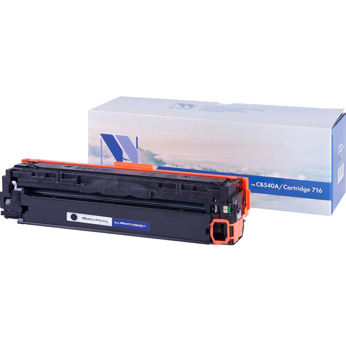 Картридж NVP совместимый HP CB540A/Canon 716 Black для LaserJet Color CP1215/CM1312/CM1312nfi/CP1215/Canon i-SENSYS