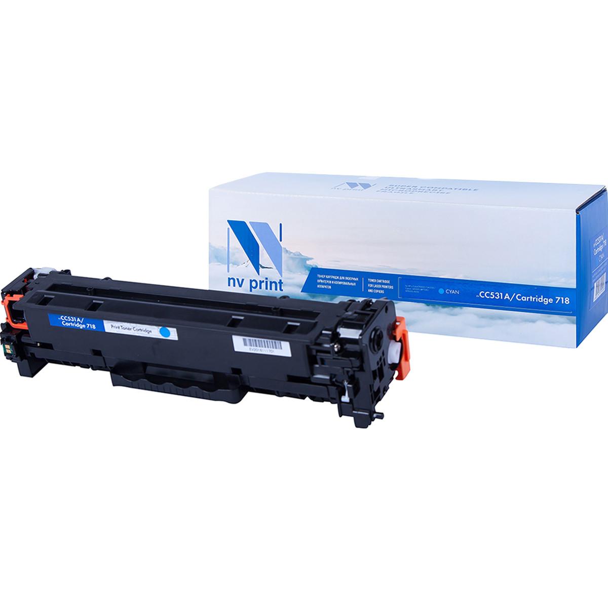 Картридж NVP совместимый HP CC531A/Canon 718 Cyan для LaserJet Color CP2025/CP2025dn/CP2025n/MFP-CM2320fx/CM2320n/Canon MF724Cdw/MF728Cdw i-SENSYS