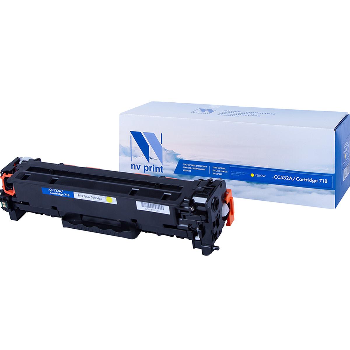 Картридж NVP совместимый HP CC532A/Canon 718 Yellow для LaserJet Color CP2025/CP2025dn/CP2025n/MFP-CM2320fx/CM2320n/Canon MF724Cdw/MF728Cdw  i-SENSYS