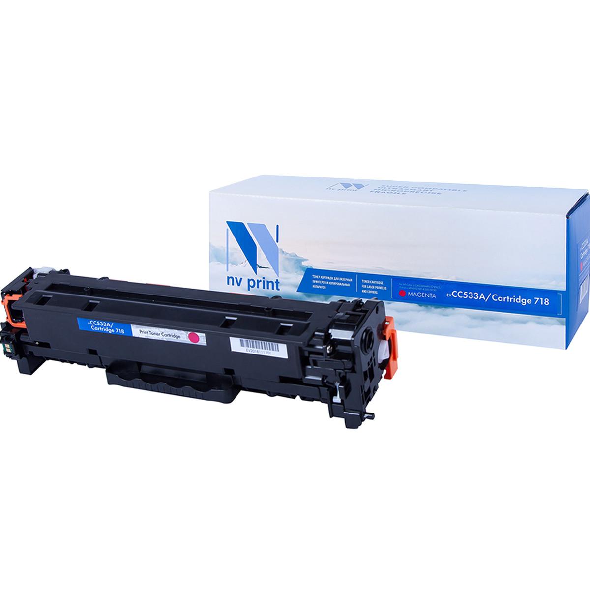 Картридж NVP совместимый HP CC533A/Canon 718 Magenta для LaserJet Color CP2025/CP2025dn/CP2025n/MFP-CM2320fx/CM2320n/Canon MF724Cdw/MF728Cdw  i-SENSYS