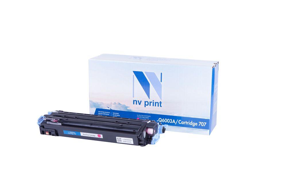 Картридж NVP совместимый HP Q6003A/Canon 707 Magenta для LaserJet Color 1600/2600n/2605 (2000k)
