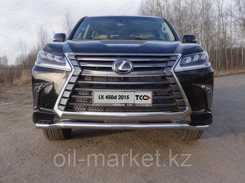 Защита переднего бампера, волна (D 60 мм) для Lexus LX 570 (2015-)
