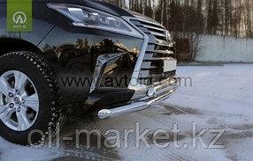 Защита переднего бампера, двойная низ круглая верх овальная для Lexus LX 570 (2015-), фото 3