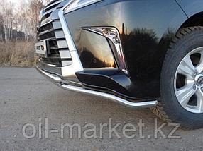 Защита переднего бампера, двойная круглая ( D42.4 мм) для Lexus LX 570 (2015-), фото 2