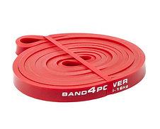 Красная резиновая петля (ширина  4.5 мм, нагрузка 4.5 -16 кг) Разминочный жгут для тренировок. Резиновая петля, фото 2