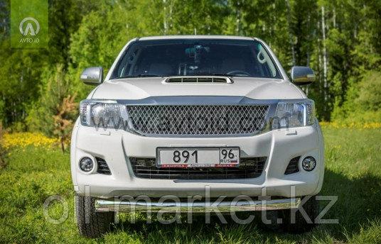 Защита переднего бампера, овальная для Toyota Hilux ( 2011-2014)