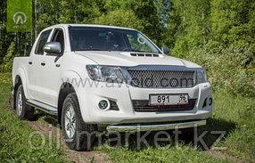 Защита переднего бампера, овальная для Toyota Hilux ( 2011-2014), фото 2