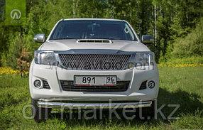 Защита переднего бампера, круглая для Toyota Hilux ( 2011-2014), фото 2