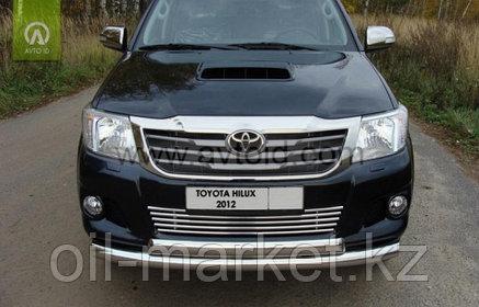 Защита переднего бампера, двойная овальная для Toyota Hilux ( 2011-2014), фото 2