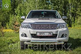 Защита переднего бампера, двойная для Toyota Hilux ( 2011-2014), фото 2