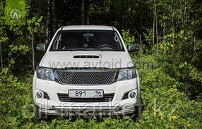 Защита переднего бампера, двойная с защитой для Toyota Hilux ( 2011-2014), фото 2