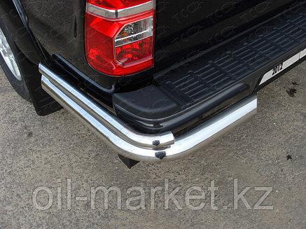 Защита заднего бампера, уголки одинарные для Toyota Hilux ( 2011-2014), фото 2