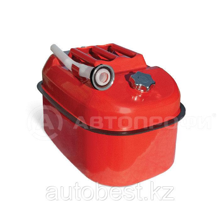 Канистра топливная горизонтальная, сталь AUTOPROFI KAN-500 (20L) Оцинкованная металл , лейка, клапан