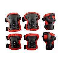 Наколенники, налокотники и перчатки. Защитный набор 3 в 1 для катания на трюковом самокате, роликах - детские
