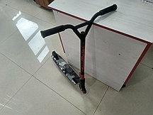 🛴 Трюковой самокат Kick Scooter с усиленным хомутом 61 см, колесо 110мм - Красный для трюков!